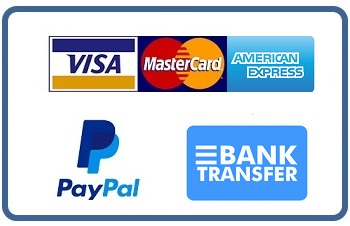 Accepted payments: Credit Card, Paypal, Bank Transfer